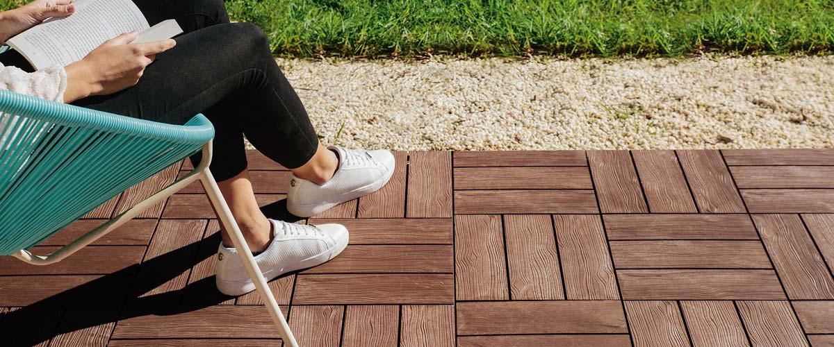 Baldosas ecológicas Clickfloor, la mejor opción para tu jardín