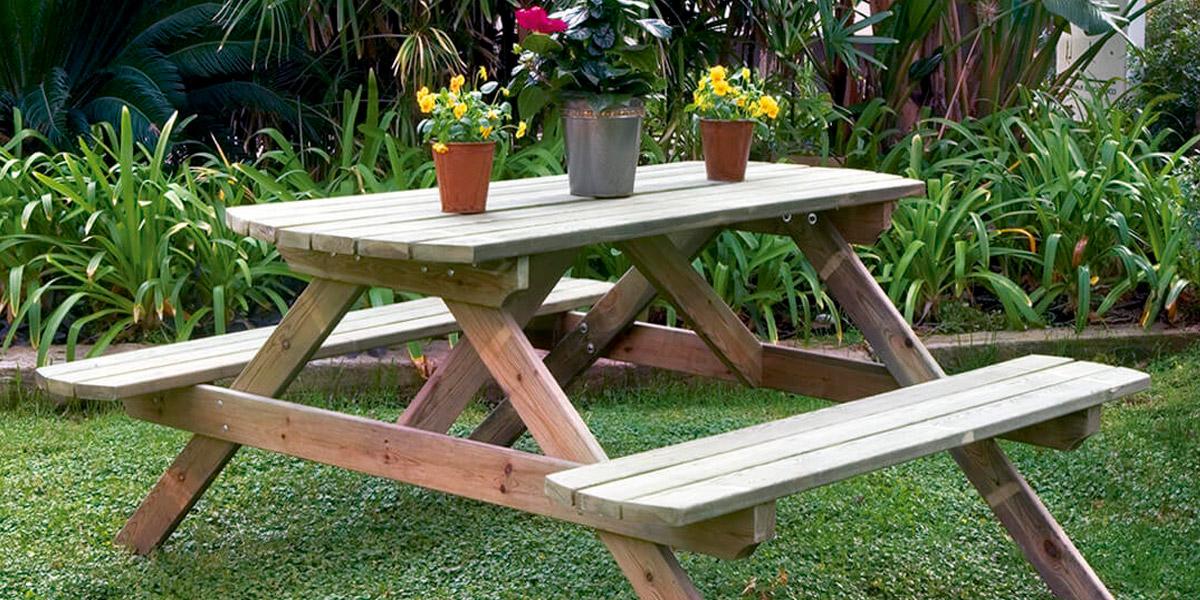Mesa picnic, lo que tus exteriores necesitan