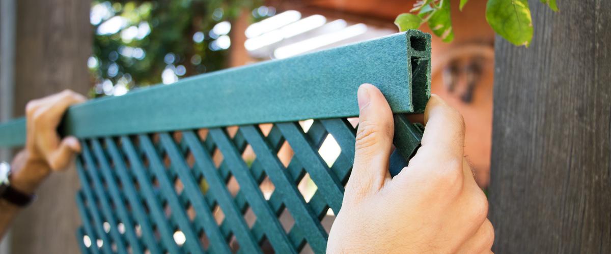 Celosía ecológica LOP, cómo realizar su montaje y complementos necesarios
