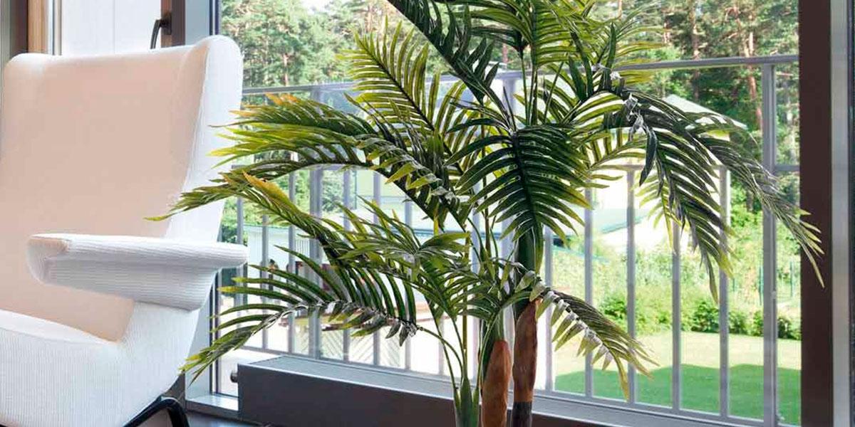 Planta artificial palmera, ¿por qué es un éxito en decoración?